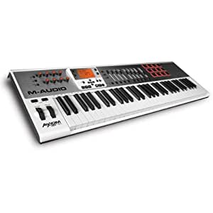 M-Audio Axiom AIR 61 | 61-Key USB MIDI Keyboard Controller with Synth-Action Keys and Aftertouch (12 Pads / 9 Faders / 8 Knobs)
