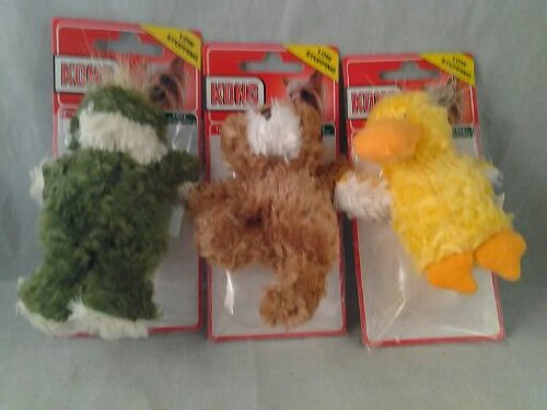 Kong Extra Small Low Stuffing 3pk (Frog, Duckie, Teddy bear), My Pet Supplies