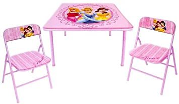 Gentil Disney Princess Folding Table And 2 Folding Chairs