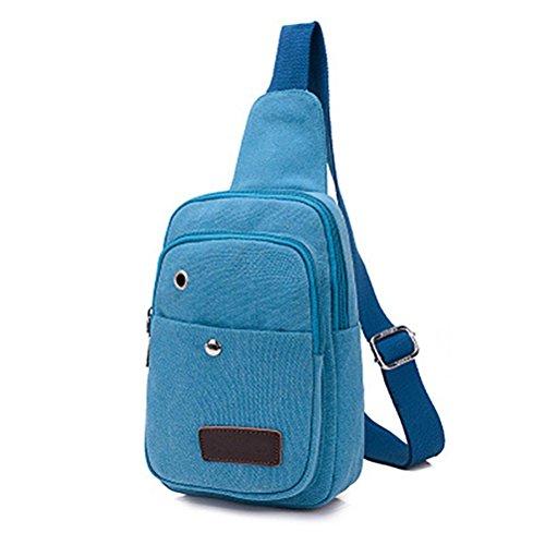 Chang Spent Ocio unisex de la bolsa de pecho colgado a hombre polideportiva al aire libre , coffee color days blue