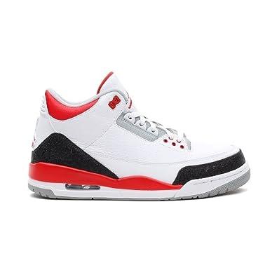 new styles cc55c a0290 Nike AIR JORDAN Retro 3 (TD)-24 - 7.5 832033-120-24 - 7.5 Blanc   Amazon.co.uk  Shoes   Bags