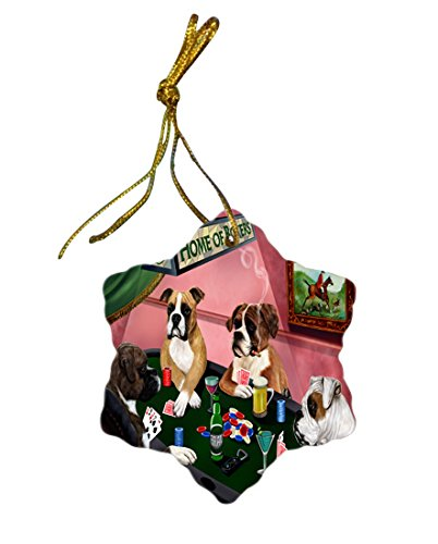 Doggie of the Day Boxer Dog Christmas Snowflake Ceramic Ornament - Amazon.com: Doggie Of The Day Boxer Dog Christmas Snowflake Ceramic