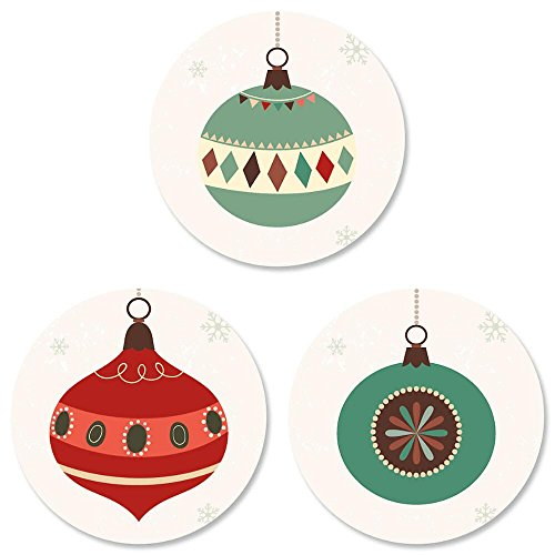 Ornament Trio Christmas Envelope Seals -Set of 144 -