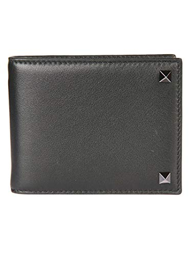 Valentino Men's Py0p0p32vh30no Black Leather Wallet for sale  Delivered anywhere in USA