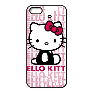 iPhone 4 4s Cell Phone Case Black Hello Kitty Repeat Pialv