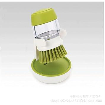 starworld jabón dispensador Palma Cepillo de limpieza, durable Limpiador Scrubber para sartenes, plato platos, vasos, cuencos, cucharas/verde: Amazon.es: ...