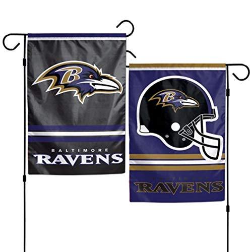Stockdale Baltimore Ravens WC Garden Flag Premium 2-Sided Outdoor House Banner Football (Baltimore Ravens Garden Flag)
