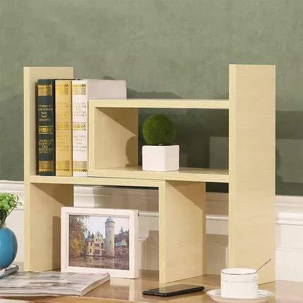 VONOTO Desk Storage Organizer Adjustable Desktop Display Shelf Rack Multipurpose Bookshelf for Office Kitchen (White Maple) ()