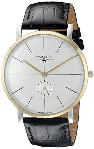 Swisstek SK21321U Retro Aces Reloj analógico de cuarzo suizo con pantalla analógica para hombre