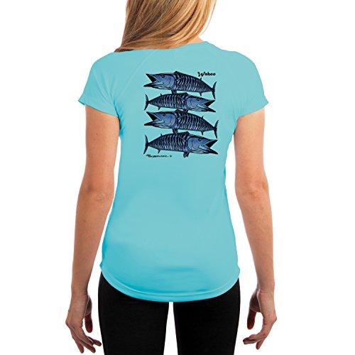 - JSuroviec American Angler Women's Wahoo Tribal UPF 50+ Short Sleeve T-Shirt X-Small Water Blue