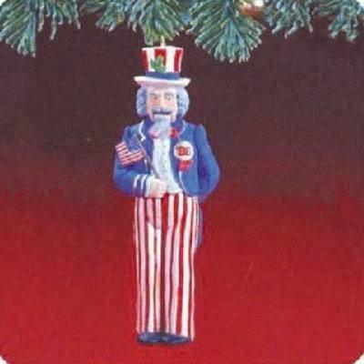 (Uncle Sam Nutcracker 1988 Hallmark Ornament QX4884 by Hallmark Ornament)