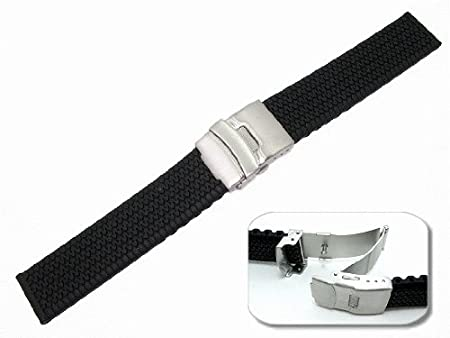 Rubber strap for men's watches