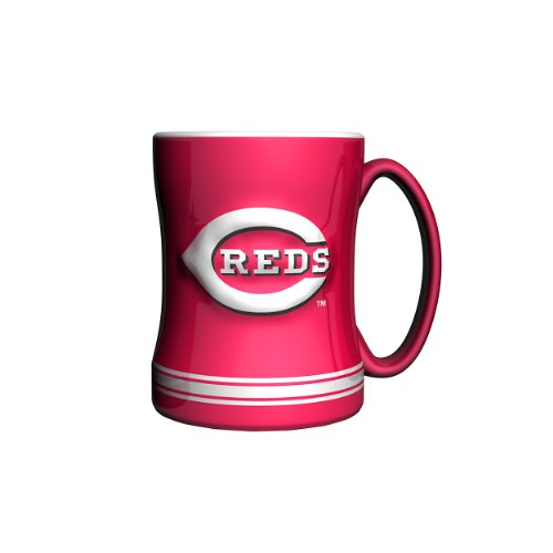 MLB Cincinnati Reds Sculpted Relief Mug, 14-ounce