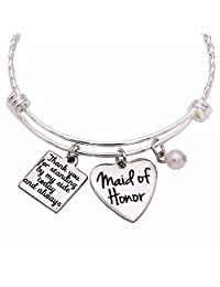 Maid of Honor Gift, Bridesmaid Gift, Matron of Honor, Wedding Gift, Maid of Honor Jewelry Bracelet, Maid of Honor Proposal Gift