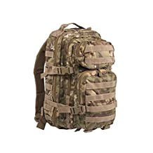 Mil-Tec Military Army Patrol Molle Assault Pack Tactical Combat Rucksack Backpack Bag 20L Arid Woodland Camo