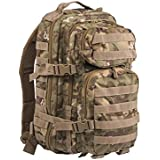 Mil-Tec Military Army Patrol Molle Assault Pack Tactical Combat Rucksack Backpack Bag 20L Arid Woodl