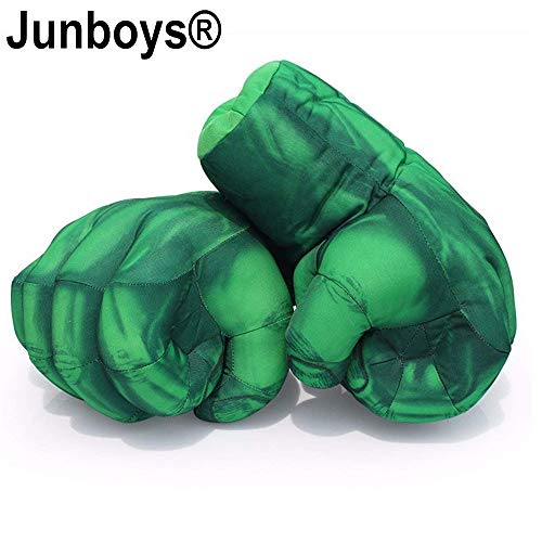 The Hulk Boxing Gloves Smash Hands Fists Incredible Hulk Soft Plush Toys Cosplay Superhero Costume Gloves, Birthday Gifts for Kids, Teens, Girls Boys. (1 Pair, Green) -