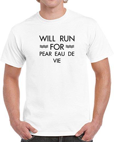Will Run for Pear Eau De Vie T shirt 2XL (Pear Eau De Vie)