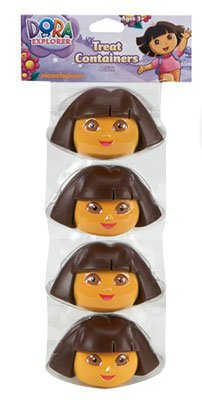 (Dora The Explorer Easter Egg Candy Treat Containers - Set of 4)