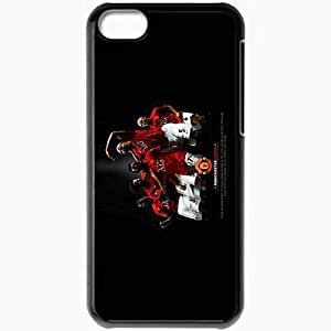 Personalized iPhone 5C Cell phone Case/Cover Skin Manchester united free Black