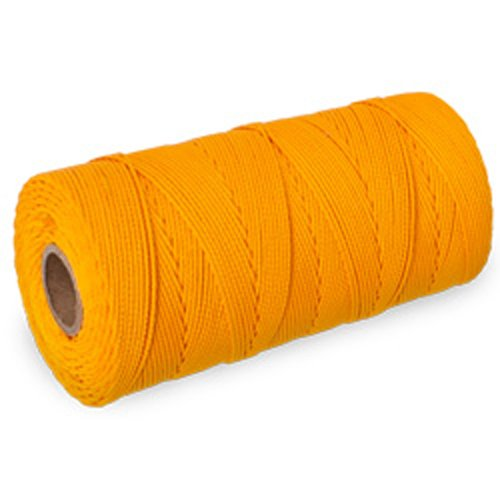 CWC Braided Mason Twine - #18 x 1100', Yellow (Pack of 12 cones)