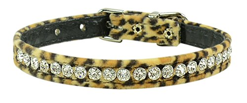 "Evans Collars 3/8"" Jeweled Collar, Size 12, Animal Prints, Leopard"