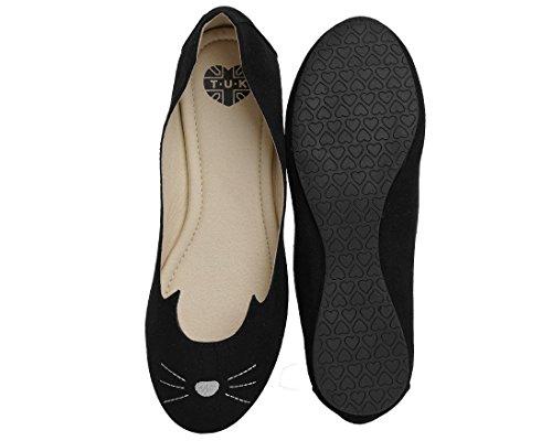 K U Shoes Sophistakitty Black Women's T Flats Black a4x5WHnpwR
