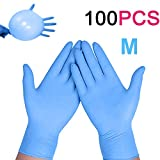 Enjoyee 100 Pcs Disposable Gloves PVC Free Rubber