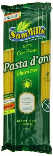 Sam Mills Pasta D'Oro Gluten Free, Spaghetti, 1-Pound (Pack of 12)