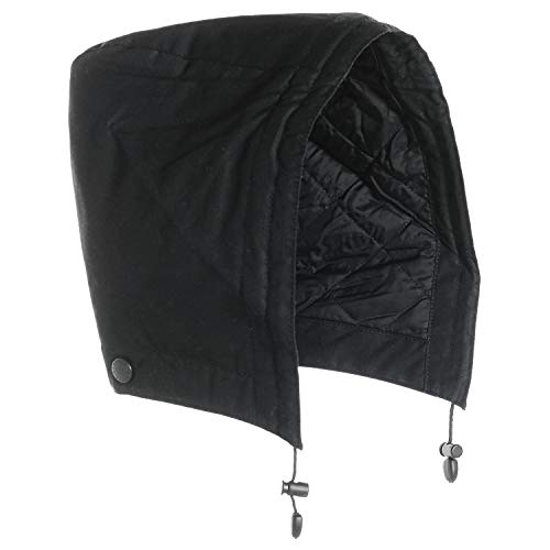 Barbour Land Rover Black Waxed Cotton Hood - Insulated