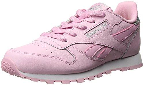Toddler Pastel Pink Footwear - Reebok Toddler Classic Leather Pastel Sneaker, CHARMING PINK/WHITE, 4 Child US Toddler