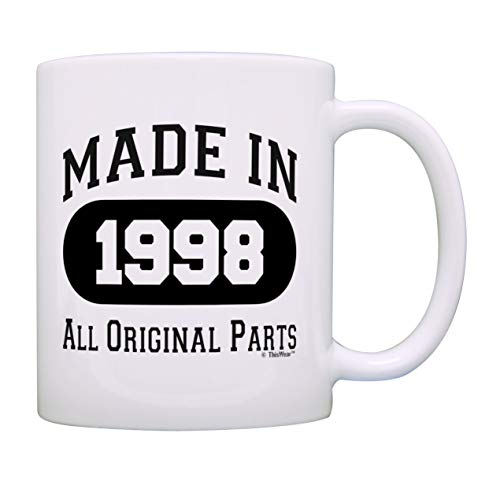 21st Birthday Gift Made 1998 21st Birthday Party Decorations Gift Coffee Mug Tea Cup White