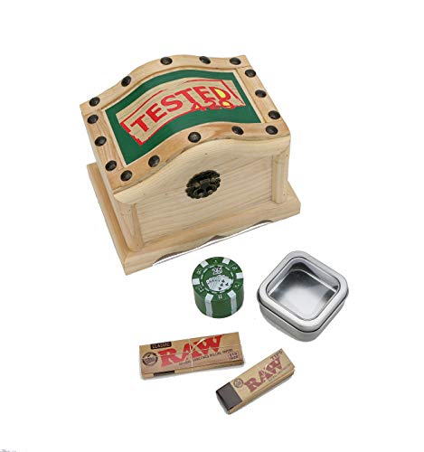 en Stash Box - Tobacco Box, Rolling Kit, Cigerette Rolling Tray, 8 pc. Bundle ()