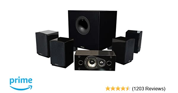 Amazon Energy 51 Take Classic Home Theater System Set Of Six Black Audio