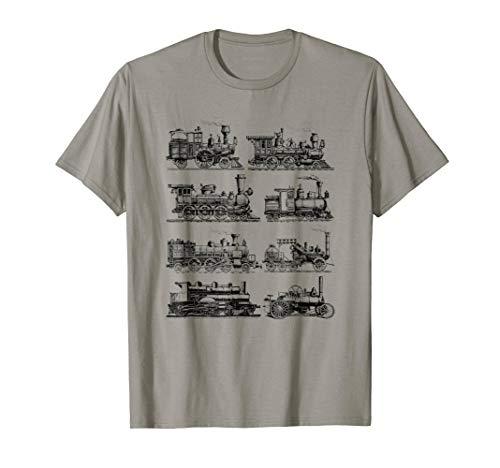 Steam Engine Trains Steam Locomotive T-Shirt ()