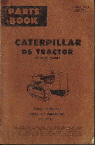 CAT-35643 Caterpillar D6 Tractor 74 Inch Gauge Parts Manual