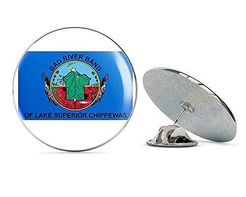 NYC Jewelers Bad River Band of Lake Superior Chippewas Flag (Tribe Native Indian) Metal 0.75