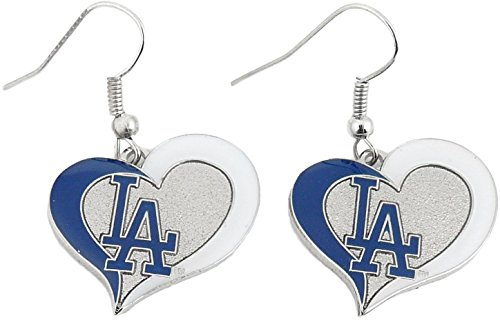 (Los Angeles Dodgers Heart Earrings)