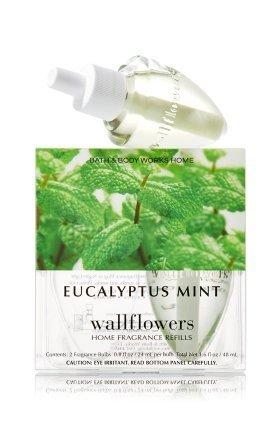 Bath & Body Works Eucalyptus Mint Wallflowers Home Fragrance Refills, 2-Pack (1.6 fl oz total)