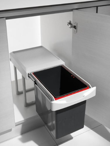 Küchen Einbau Abfalleimer Virtus 1, 1X 16 Liter, Handauszug, Ab