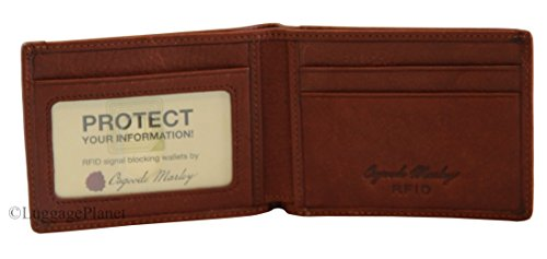 Osgoode Marley Ultra Mini RFID Wallet Brandy -