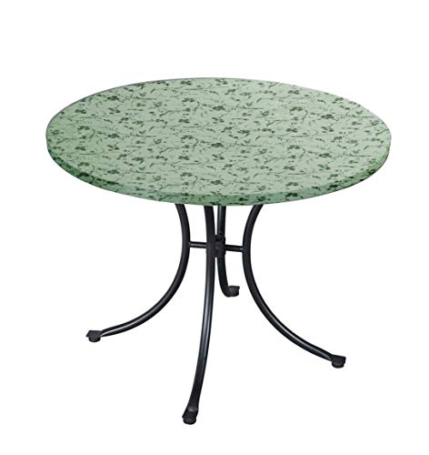 - Carol Wright Gift Deluxe Fitted Tablecloths - Round Tablecloth (Fits Tables up to 48