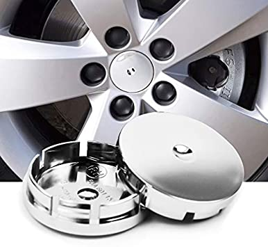 fit a-m-g Silver JD Auto 4pcs 56MM 2.2 Emblem Badge Sticker Wheel Hub Caps Center Cover ABS Material