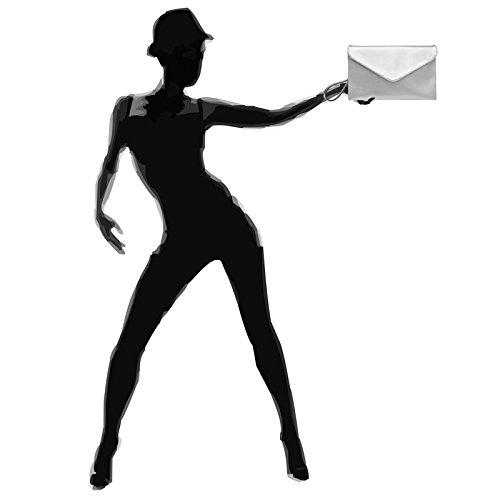 CASPAR TA310 Women Envelope Clutch Silver