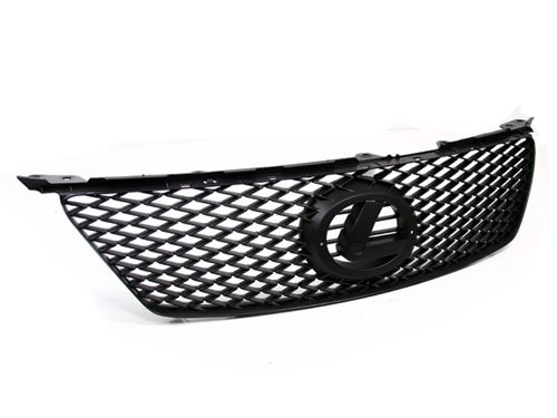 06-08 LEXUS IS250/IS350 IS-F STYLE BLACK FRONT BUMPER MESH GRILLE