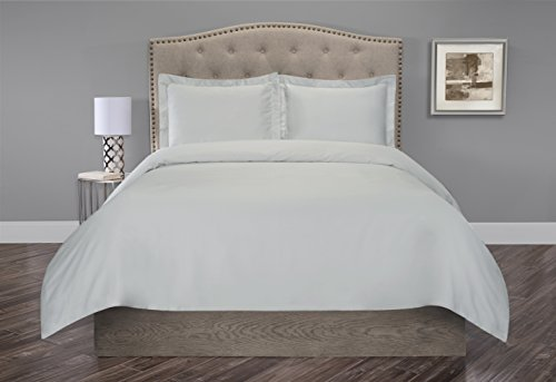 Organic Cotton 300 Thread Count Sateen Duvet Set (Twin, oyster)