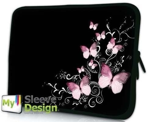 Case Carrying 12.1' Laptop (MySleeveDesign 11 -12 Inch Notebook Sleeve Laptop Neoprene Soft Case Pouch Bag 11 / 11.6 / 12 Inch - SEVERAL DESIGNS & SIZES Available - Butterfly Black)