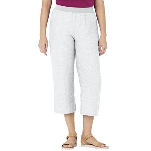 6e1667e899ab3 50%OFF Woman Within Plus Size Wide Leg Capris - nustebink.lt
