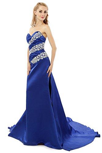 Bainjinbai Elegant Schulterfrei Lange Blau Damen Abend Cocktail Ball Formal Kleider Party Kleider mit Kristal