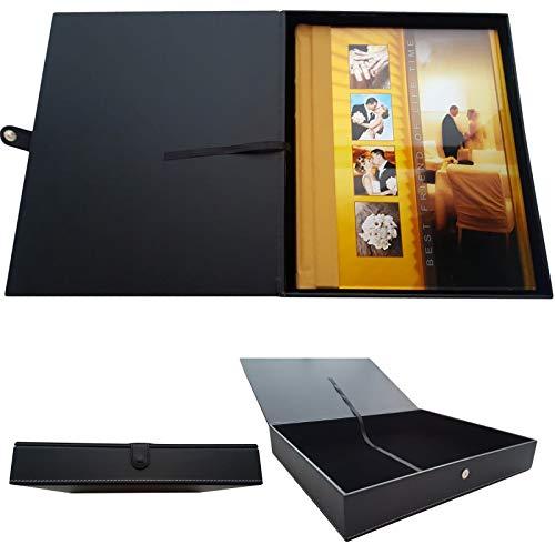 Studio i Premium Black Leather Design Presentation Box for Photo/Wedding Album -
